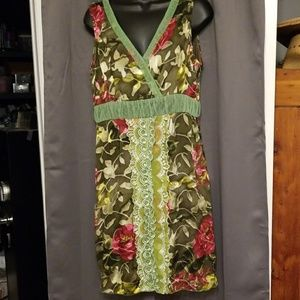 Young Essence 100% silk dress size L